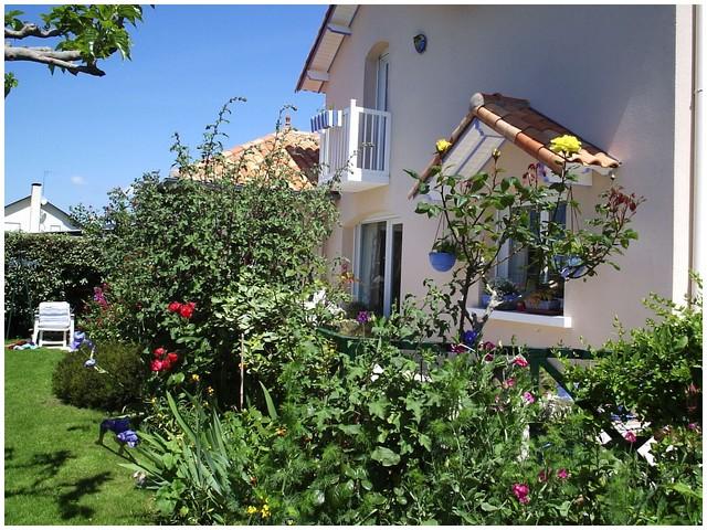 Chambre d'Hôtes La Roseraie à Pornichet - Balcon Côté jardin